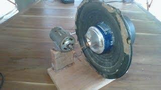 Power generator, how to make generator using 15cm speaker