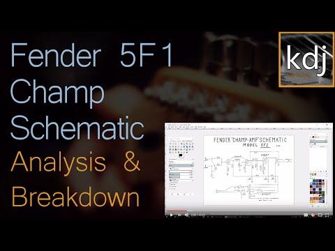 Fender 5F1 Champ Schematic - Analysis and Breakdown