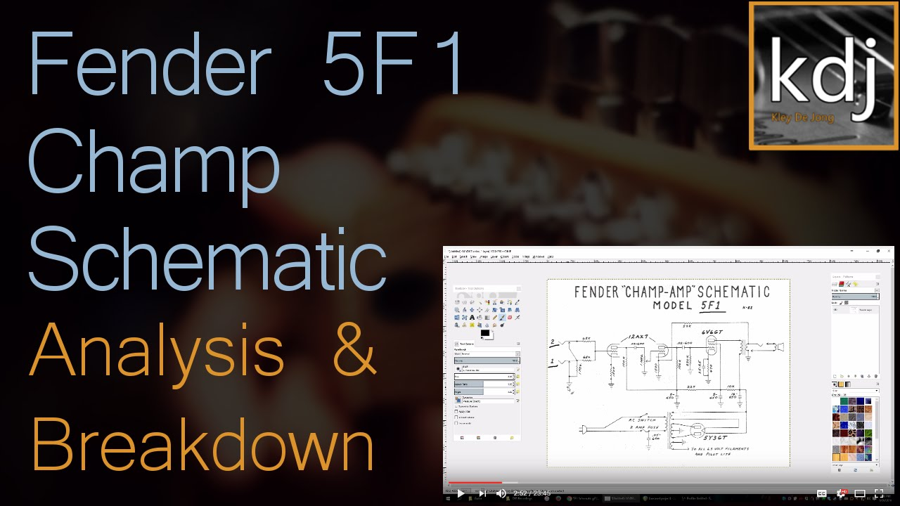 Fender 5f1 champ schematic analysis and breakdown youtube fender 5f1 champ schematic analysis and breakdown cheapraybanclubmaster Choice Image