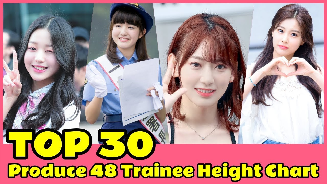 TOP 30 Produce 48 Trainee Height Chart