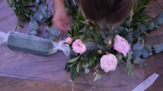 Мастер-класс по созданию композиции свадебного декора