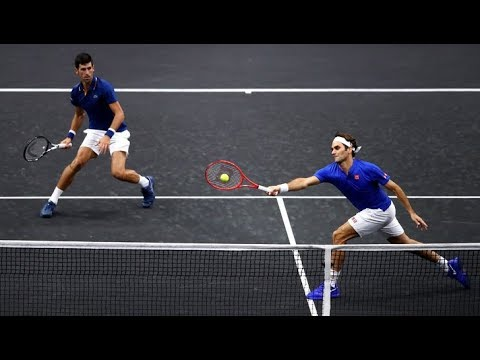 Federer/Djokovic Vs Sock/Anderson - Laver Cup 2018 Highlights (HD)