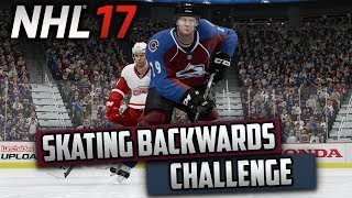 Can I Win a Game Only Skating Backwards? (NHL 17 Challenge)