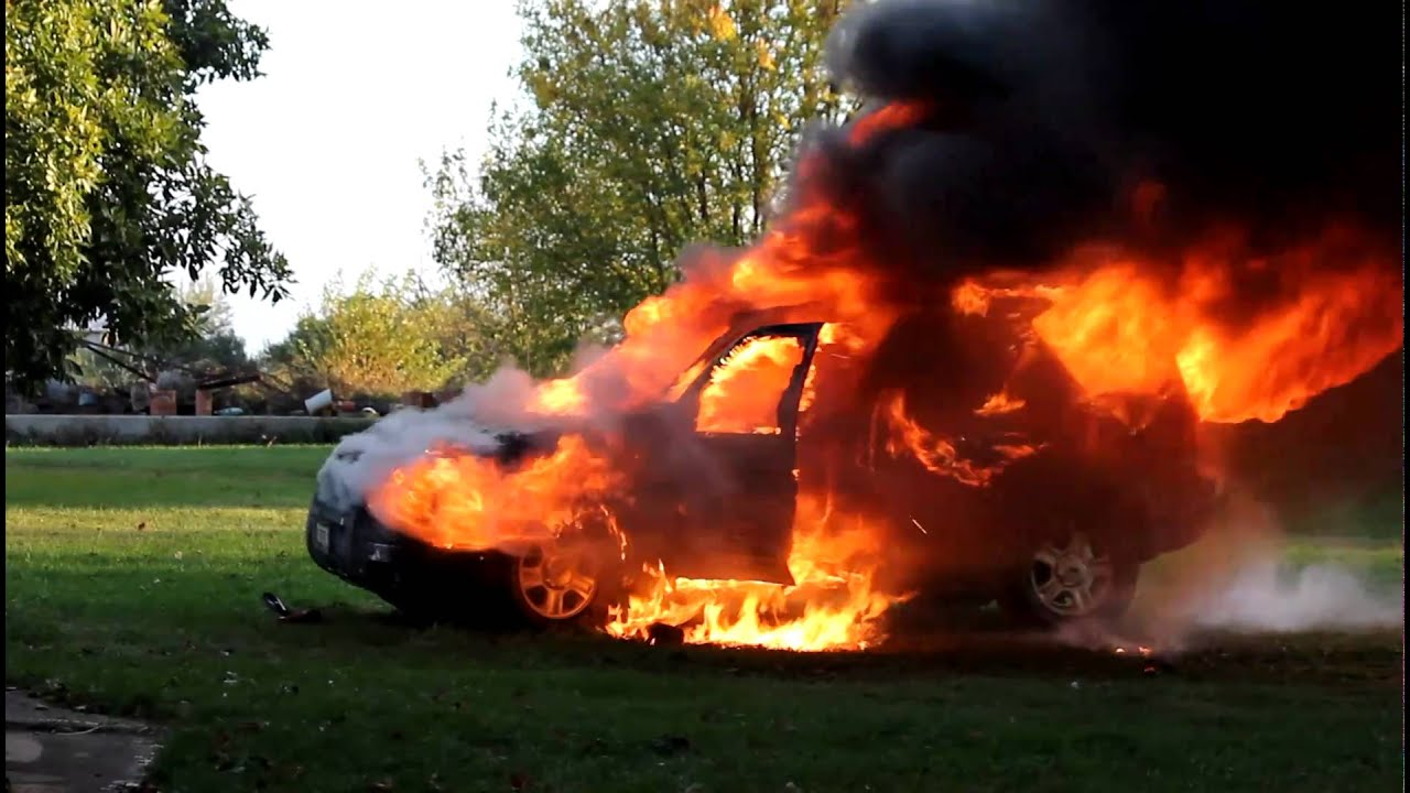 Suv On Fire Youtube