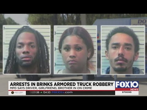 Suspects Arrested In Brinks Armored Truck Robbery