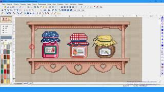 Программа Cross Stitch Professional Platinum — настройка внешнего вида схем