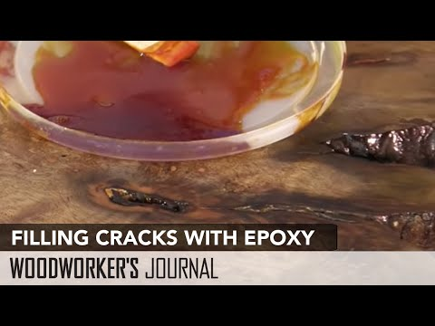 Filling Voids and Cracks in Wood with Two-Part Epoxy