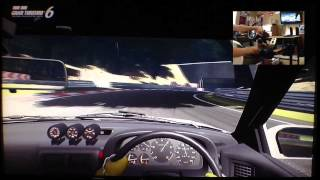 GT6 RX7 FC Drifting Deep forest raceway using G27