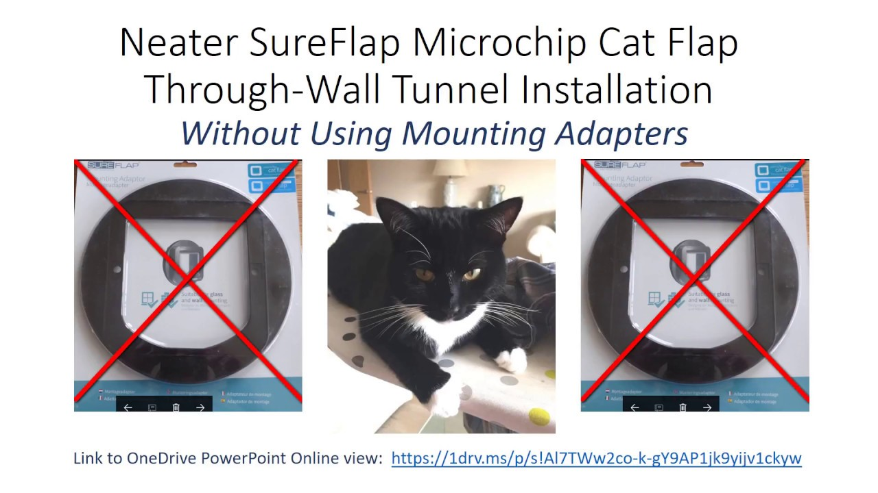 Neater Sureflap Microchip Cat Flap Wall Installation Without Using