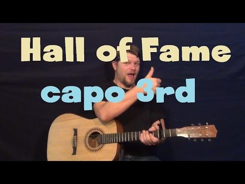 Hall of Fame (The Script) Guitar Lesson - Easy How to Play Tutorial