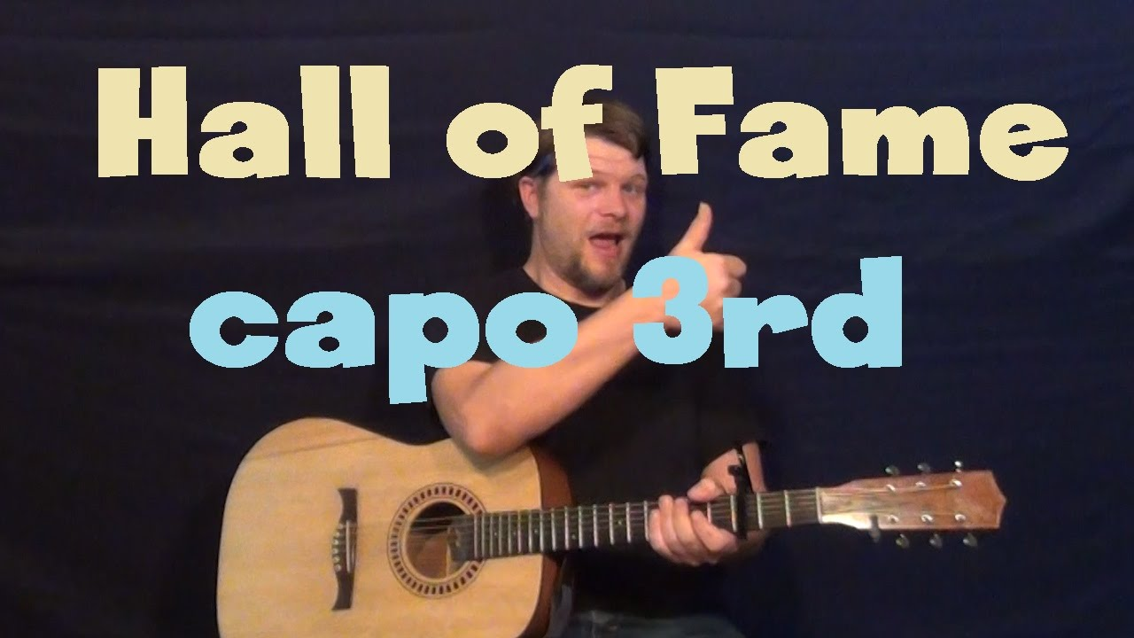 Hall Of Fame The Script Guitar Lesson Easy How To Play Tutorial