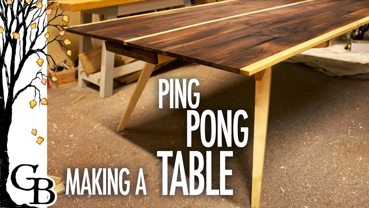 Ping pong/dining table with basic tools - YouTube
