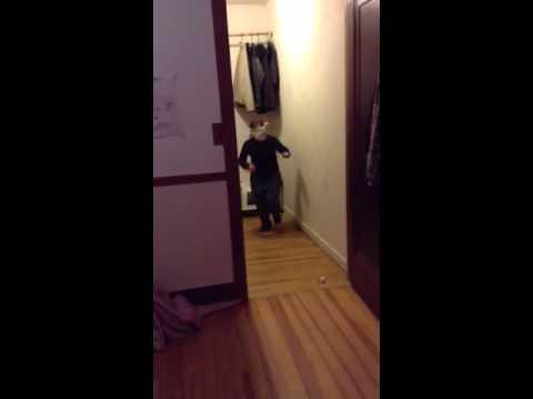 Blind Folded-Runs Into Wall