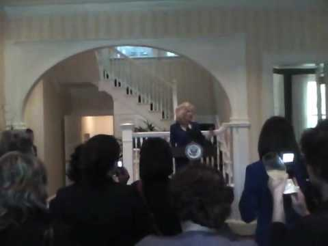 Visiting the Vice President's Home and Dr Biden's Speech