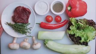 Рецепт Теплый Салат с мясом и овощами  NEW!!! Как приготовить Теплый Салат с мясом от mycoffee.bz