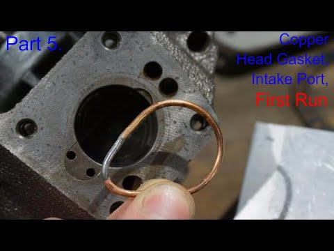 Part 5. DIY Internal Combustion Engine Made from Old Compressor - First Run and Copper Head Gasket
