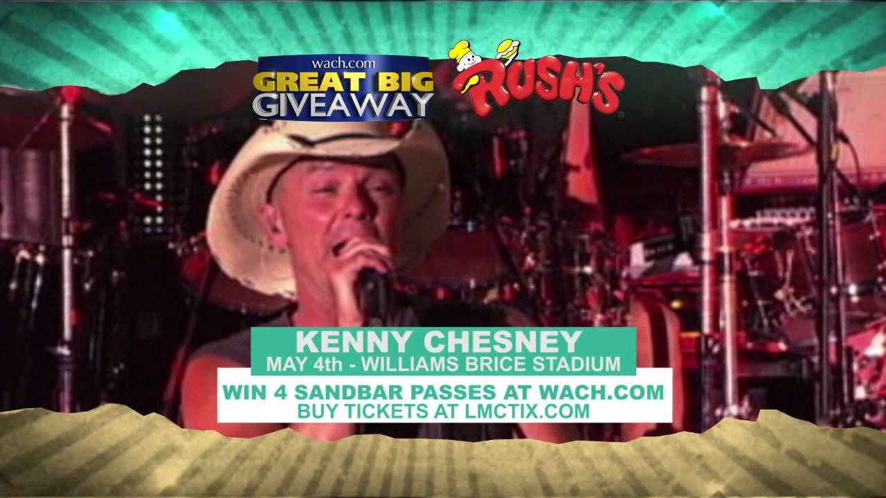 2922b4e66dfec Win Kenny Chesney Tickets from WACH FOX and Rush s! - YouTube