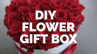 DIY Gift Box With Flowers - Roses