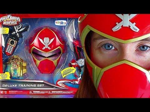 Power Rangers Super Megaforce DX Training Set Review! (Feb 2014)