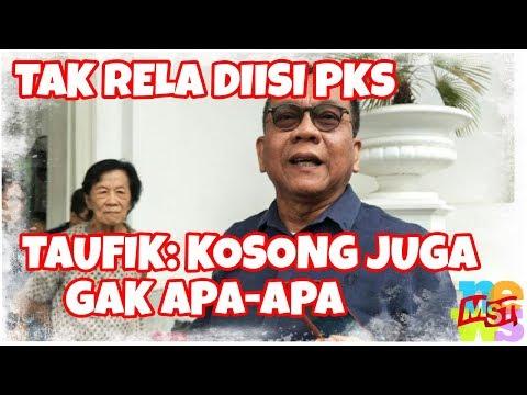Tidak Rela Diisi PKS, M. Taufik: DKI Tidak Punya Wagub Juga Tidak Apa-apa