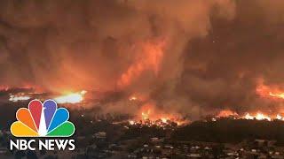 Deadly Fire Tornado Caught On Camera | NBC News