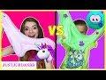 Unicorn Slime vs Monster Slime