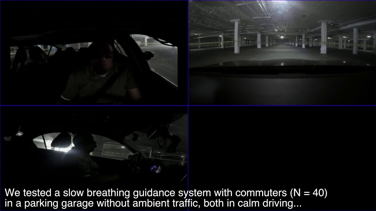 On-road Guided Slow Breathing Interventions for Car Commuters
