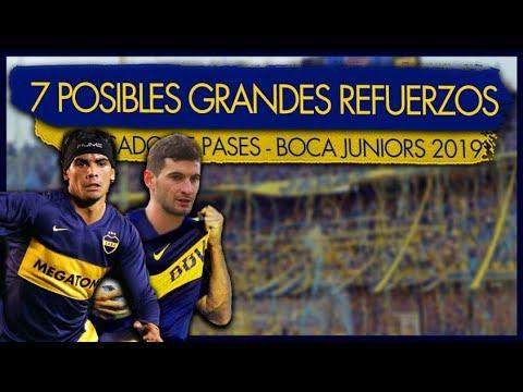 Los 7 Refuerzos que suenan en Boca Juniors para el proximo torneo/Mercado de pases 2019