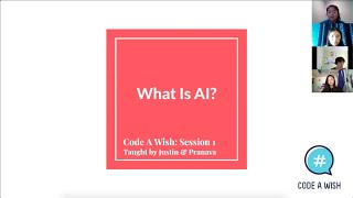 """AI 101"" #1 - What is AI? by Code a Wish"