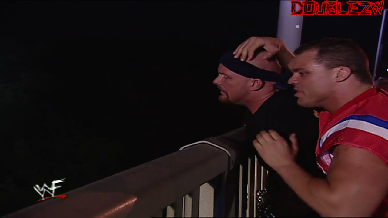 Kurt Angle Holds Stone Cold Hostage   September 3, 2001 Raw Is War Part 1/2