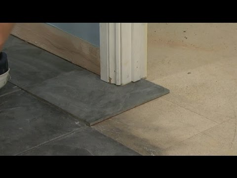 How To Install Floor Tile Around Door Casings Jambs Youtube