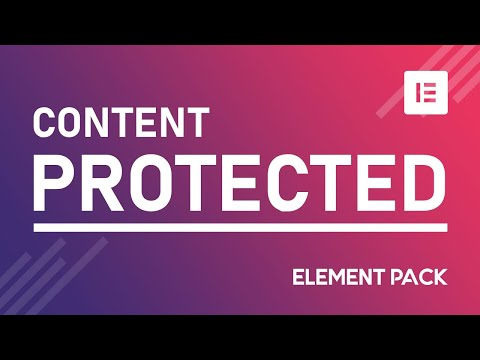 How To Create Protected Content Widget In Elementor By Element Pack