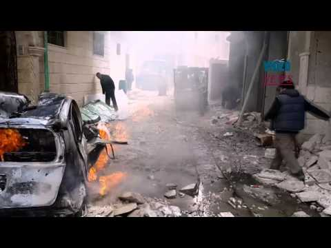 Syrian army carry out airstrikes on Aleppo