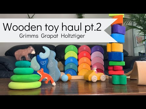 Wooden toys for kids | Toy haul