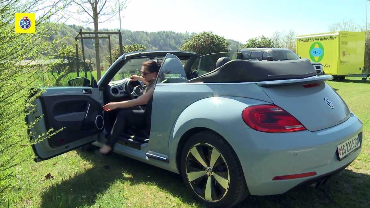vw beetle 1 4 tsi cabriolet test de voiture youtube. Black Bedroom Furniture Sets. Home Design Ideas