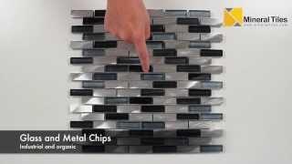 Aluminum Glass Tile Silver Blend - 200ker1827
