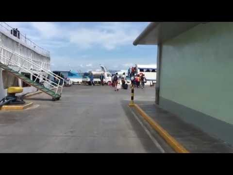 Boarding in ferry in Cebu sea port terminal