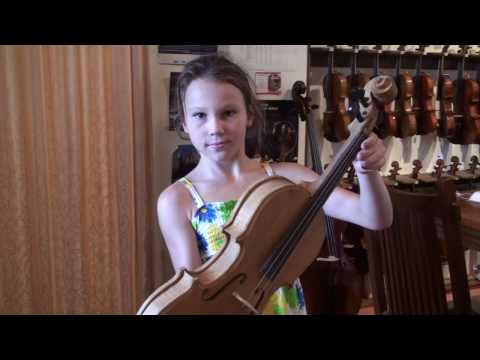 Erin (9), the youngest violin maker on earth?