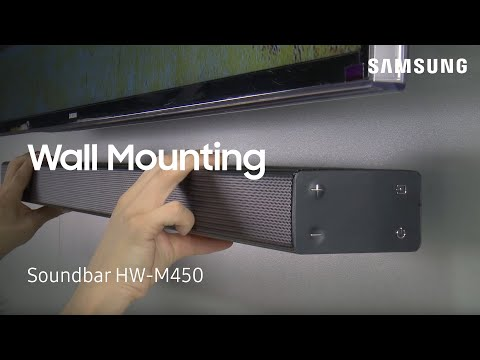 How To Wall Mount Your HW-M450 Flat Soundbar | Samsung US
