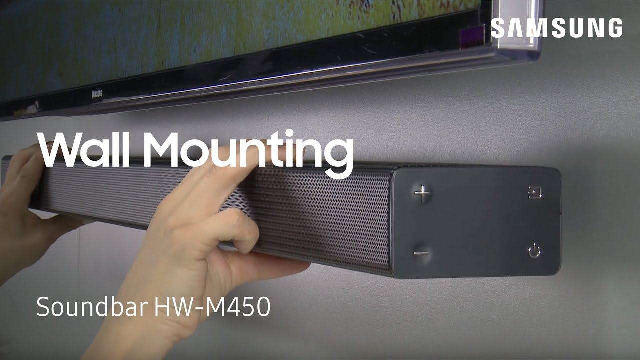 How To Wall Mount Your Hw M450 Flat Soundbar Youtube