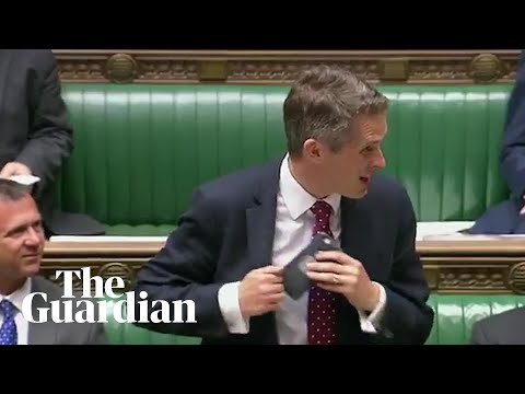 Gavin Williamson 'heckled' by Siri during Commons speech
