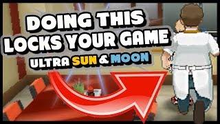 CRAZY POKEMON ULTRA SUN AND MOON GAME LOCKING GLITCH - Chef Ditto Glitch
