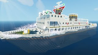 SINKING COAST GUARD SHIP! - Stormworks Multiplayer Gameplay - Sinking Ship Survival Game
