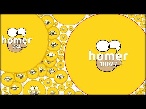 HOMER SIMPSONS ENTERS AGARIO SPEEDY | THE BEST AGAR.IO SKIN (Agario Speedy #117)