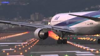 [FullHD]B777&B767 crosswind landing 大阪伊丹空港 JA753A & JA8288 ITM/RJOO thumbnail