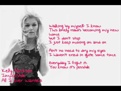 Kelly Clarkson - Impossbile + Lyrics