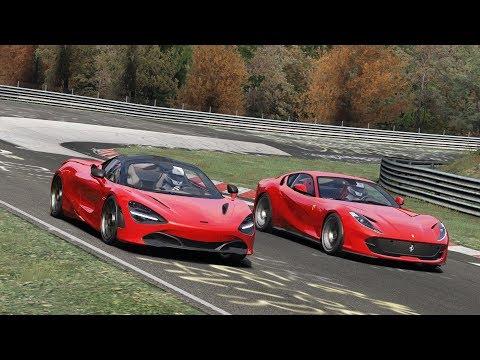 Ferrari 812 Superfast vs McLaren 720S at Nürburgring / Assetto Corsa