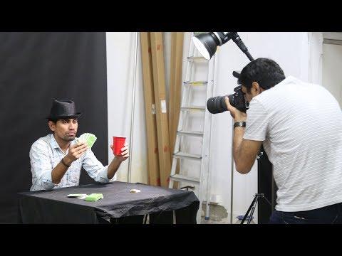 Dramatic portrait photography using one flash thumbnail