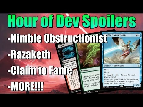 Mtg: Hour of Devastation Spoilers - Nimble Obstructionist, Razaketh, Claim to Fame, and MORE!