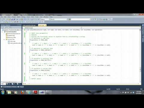 COP1334 C++ Fraction Calculator Part 2 - Implementation